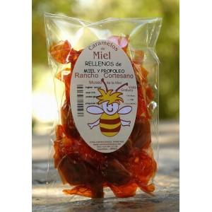 Caramelo Relleno de Miel y  Propoleo, 100 gr